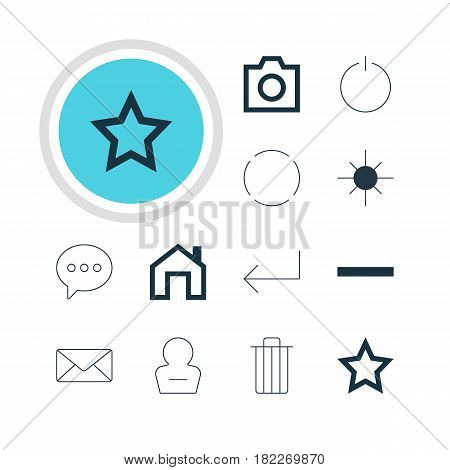 Vector Illustration Of 12 Member Icons. Editable Pack Of Accsess, Minus, Remove User And Other Elements.