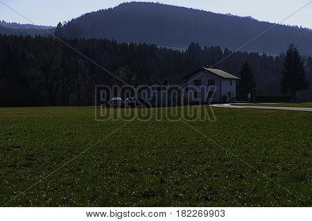Landschaft; Kammerhof; Pielachtal; März Wald; Wiese; Jahreszeit; Frühjahr Landscape; Kammerhof; Pielachvalley; Forrest; Meadow; Season; Spring;