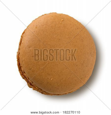 Brown Macaron Isolated