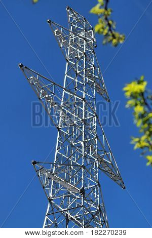 Brand new high voltage power line in Europe