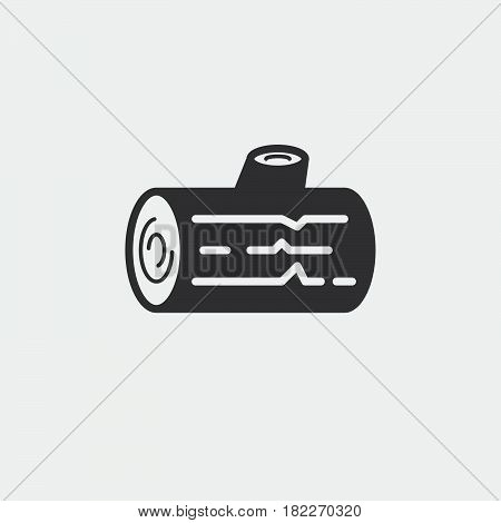 Logs icon in outline style isolated on white background. Felling symbol