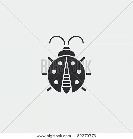 Ladybug icon. Simple illustration of ladybug vector icon for web