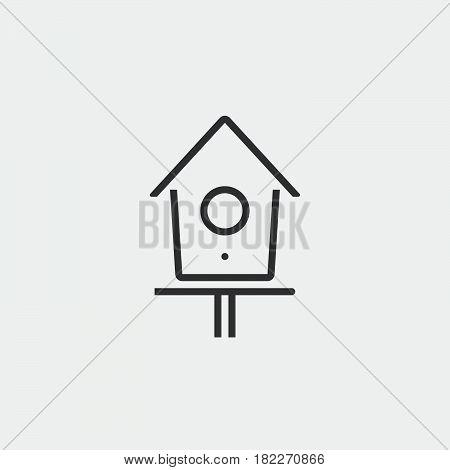 Birdhouse or nesting box icon. Flat illustration of birdhouse or nesting boxvector icon