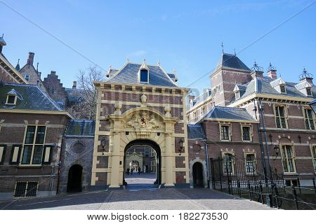 Entrance To The Binnenhof, The Hague, The Netherlands