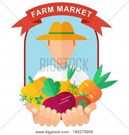 Farm Market Logo Man