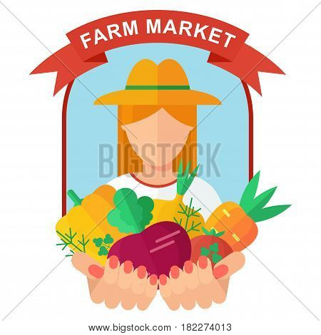 Farm Market Logo Woman