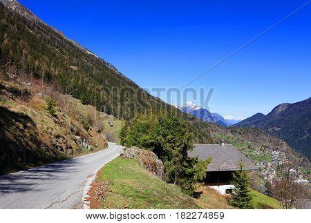 Alpine landscape in Haute Savoie, France, Europe