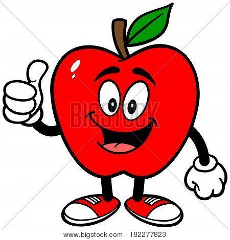 A vector illustration of a cartoon Apple.
