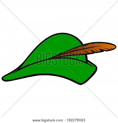 A vector illustration of a Archer hat.
