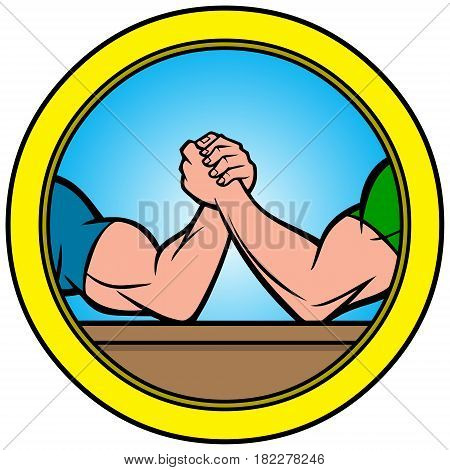 A vector illustration of a Arm Wrestling Icon.