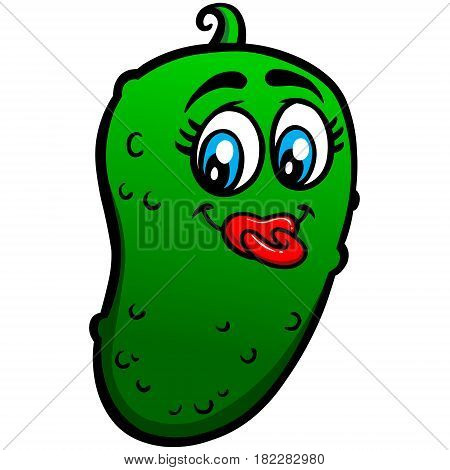 A vector illustration of a Baby Pickle.
