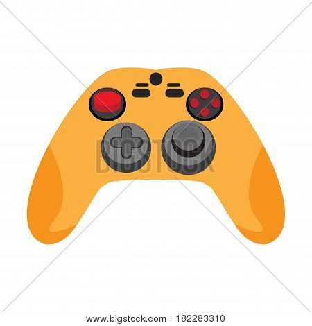 Isolated joystick on a white background, Vector illustration