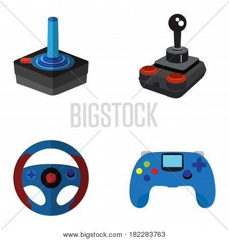 Set of joysticks on a white background, Vector illustration