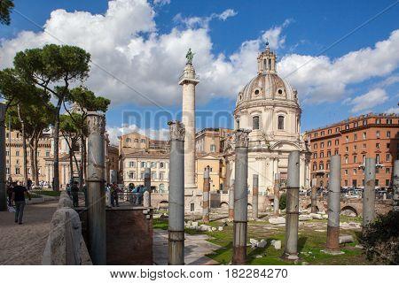 Rome City at sunny day