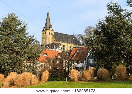 View of the old town in Essen-Kettwig Germany