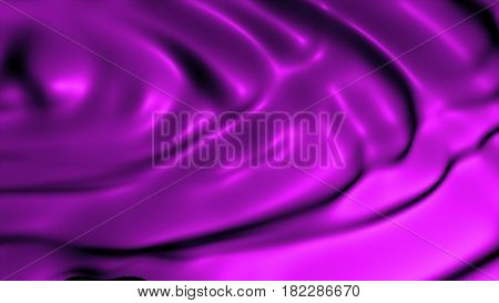 Closeup Of A Rippled Abstraction Of Purple Silk Fabric