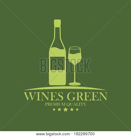 wines green premium quality wine image vector illustration eps 10