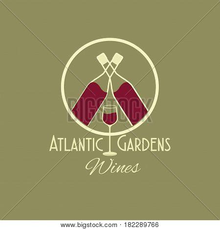 atlantic gardens wines celebration vector illustration eps 10