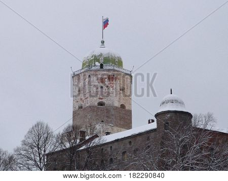 A Swedish-built medieval fortress around which the town of Viborg (Russia) in winter