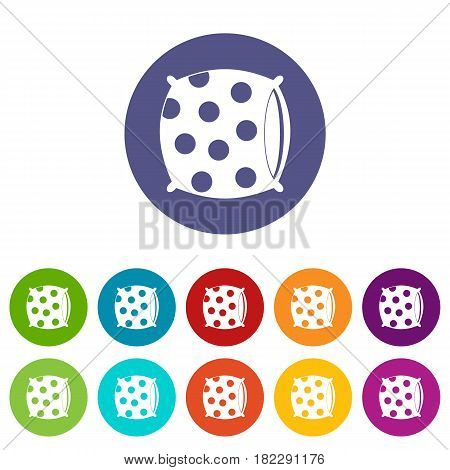Sheep icons set in circle isolated flat vector illustration