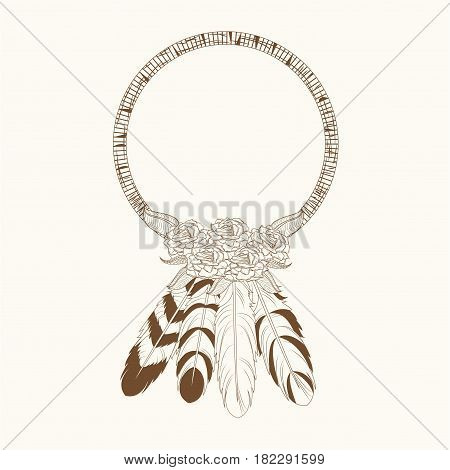 free spirit decoration feathers vector illustration eps 10