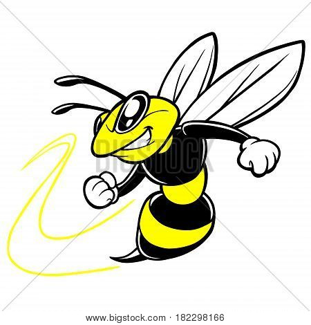 A vector illustration of a Bee mascot.