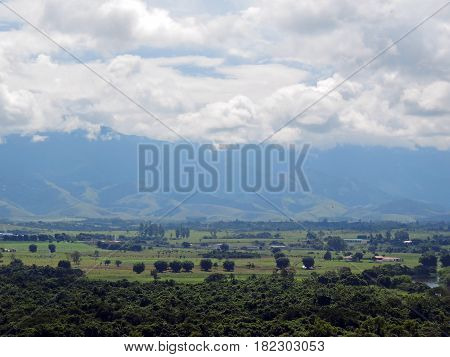 Landscape of the Paraiba Valley in Sao Paulo State, Brazil