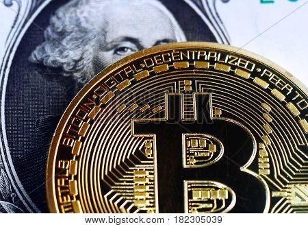 Bitcoin On Dollar Bill