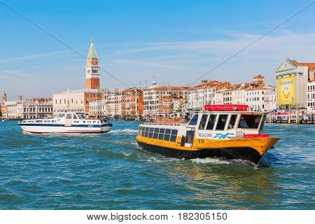Cityscape Of Venice, Italy, Viewed From Lagoon