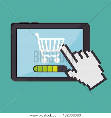 electronic commerce concept icon vector illustration design