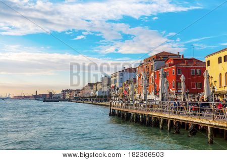 Waterfront Of The District Dorsoduro In Venice, Italy