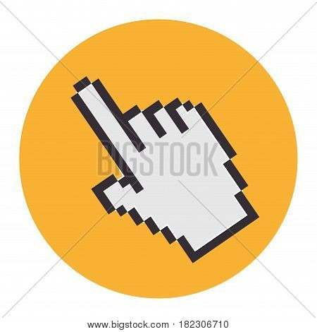 hand mouse pointer icon vector illustration design