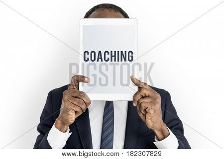 Coaching overlay word young people