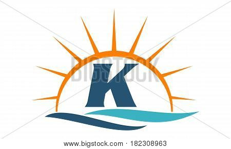 Wave Sunset Beach Water Pool Initial K