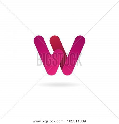 Letter W Logo. Vector Icon Design Template. Color Sign.