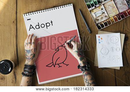 Adopt Animals Best Friends Bird Icon
