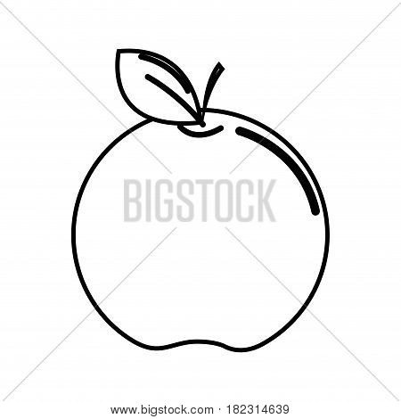 silhouette apple fruit icon stock, vector illstration design image