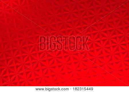 Pattern Of Red Pyramid Shapes