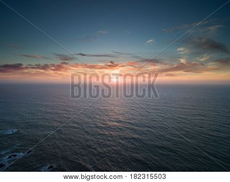 View on Cabo da Roca, a cape which forms the westernmost extent of mainland Portugal and continental Europe