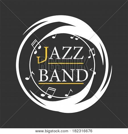 Jazz musical art poster vector template for performance party in cafe. Vector Illustration