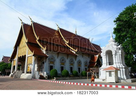Buddhist Temple In Chiang Mai, Thailand