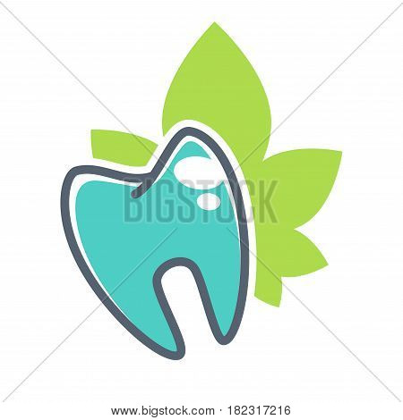 Tooth vector logo template for dentistry or dental clinic and health products. Vector icon of teeth and healthy mouth