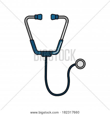 blue medical stethoscope tool revision heart, vector illustration