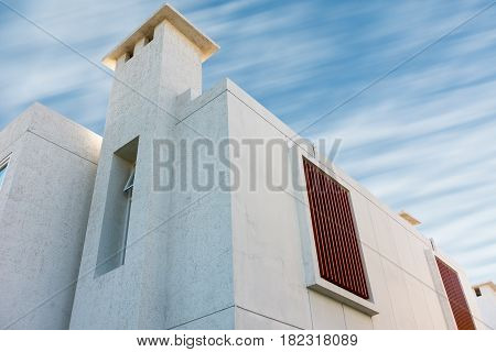 Modern house on blue skies background., Exterior