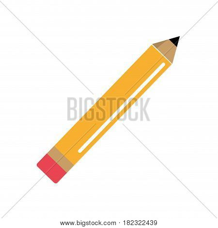 pencil tool to study in the school icon, vector illustration