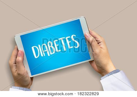 Stop Diabetes Concept  Against Healthy  Doctor Hand Working Professional Doctor