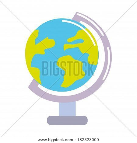 earth planet desk tool decoration, vector illustration