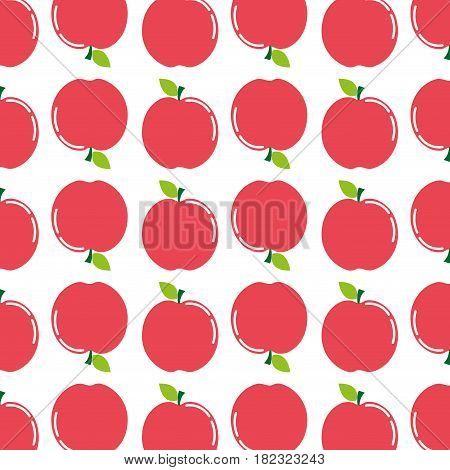 delicious apple fruit taste background icon, vector illustration