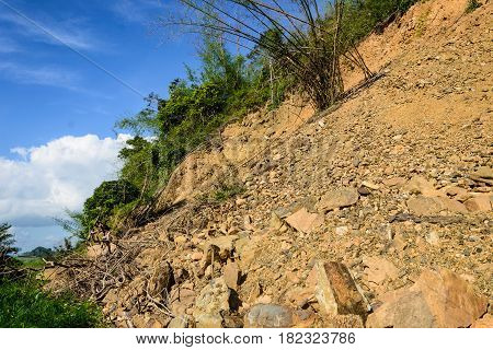 mountain soil dig smuggle and slide in thailand