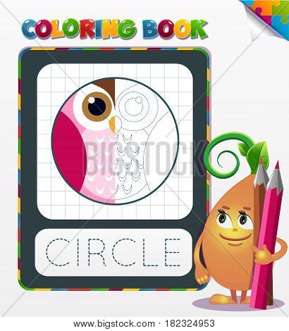 Coloring Book Circle Geometric Form